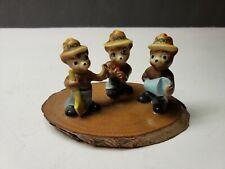Vintage Smokey The Bear Miniature Figurine Set