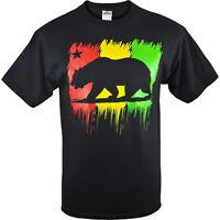 ShirtBANC Rasta California Republic Shirt Women Weed Weather Cali Love Tee