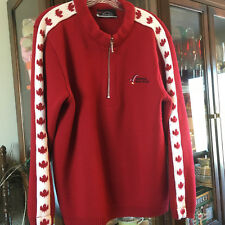 National Sport School Ski Sweater Mens Size Large Canada Maple Leaf