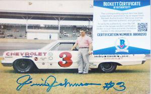 HOF -Junior Johnson- BAS Signed/Autograph/Auto NASCAR Racing 5x7 Photo Card