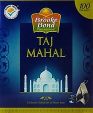 Brook Bond, Indian Taj Mahal Tea, Original Black Darjeeling, 100 Tea Bags