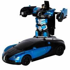 RC Transforming Radio RemoteControl Deformation Vehicle Car Deform Robot Kid Toy