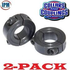 "2-PACK!  1-1/4"" Double Split 2-PC Clamp Shaft Collar Steel Black Oxide CCI1252S"