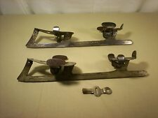 Antique Union Hardware Clamp On Ice Skates Complete With Key! Patent 1894 10 1/2