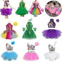 Girls Kids Sequins Sequins Ballet Tutu Dress Latin Jazz Dancewear Modern Costume
