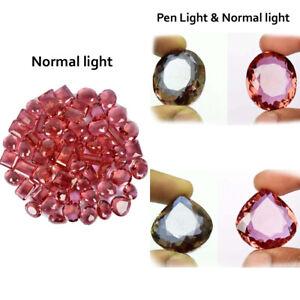 500 Ct./6 Pcs Mix Shape Color Change Alexandrite Loose Gemstones Lot Mix Shapes