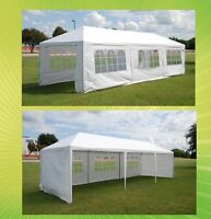 Wedding Party Tent Canopy Gazebo w Metal Connectors - Three Sizes Available