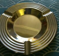 French 1930's Art Deco Silver Ashtray-minimalist design-Great condition