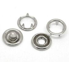 F1: 100 Sets Silberfarbe Nieten Druckknopf/Druckknöpfe 11x4mm 11mm 10x4mm