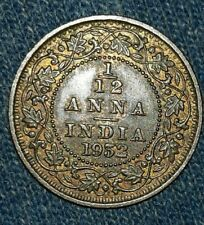 1932 UNC BRITISH INDIA 1/12 ANNA COIN BRONZE  KING GEORGE V