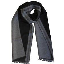 Bufanda Para Hombre Con Diseño Griego Negro Gris Bicolor Pañuelo Cuadros Rayas L