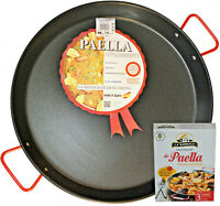 Wok Karahi Paella Pan 30cm 38cm Deep Induction One Handle Pan Lid