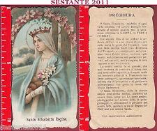 2603 SANTINO HOLY CARD SANTA ELISABETTA REGINA PICCOLA PIEGA