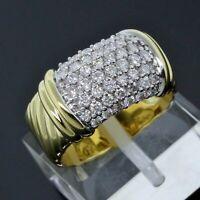 David Yurman 18K Yellow Gold 10mm Metro Cable Wide Band Diamond Ring Size 5.75