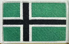 VINLAND Flag Patch With VELCRO® Brand Fastener NORWAY Military Black Version #61