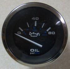 Teleflex Hurricane Series Domed Lens Boat Oil Pressure Gauge 0-80 PSI 61259