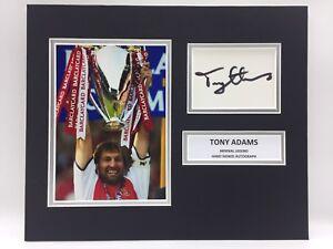RARE Tony Adams Arsenal Signed Photo Display + COA AUTOGRAPH ENGLAND