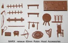 Marx reissue 60mm Robin Hood castle playset furniture & accessories     G