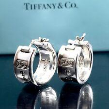 9f80b5119 Tiffany & Co Silver 925 Huggie Wide Hoop 1837 Earrings .75 in./ 14.9