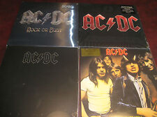 AC/DC BACK IN BLACK + HIGHWAY +  BLACK ICE DOUBLE LP + ROCK OR BUST 5 180G LPS