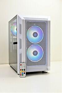 White RGB Gaming PC Quad i7 240 GB SSD+1TB HDD 16GB Ram GTX 1650 Windows 10 Wifi