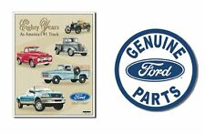 Two Ford Truck Signs Garage, Den, Man Cave, Office, Great Gift Idea! Ships Free!