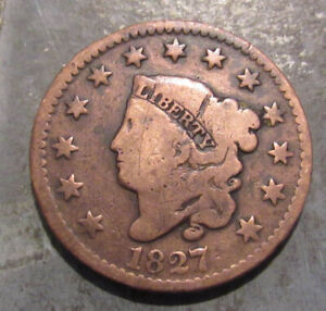 1827 Coronet Head U.S. Large Cent