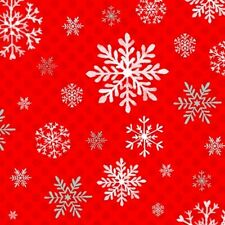 Studio E Peppermint Penguin by Lucie Crovatto 3019S 88 Red Snowflake Cotton Fab