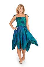 Tie Dye Handkerchief Hem Fairy Dress Festival Faery Mid Length