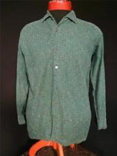 Camicie casual e maglie vintage da uomo verde 100% Cotone