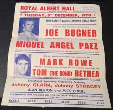 Boxing Flyer Royal Albert Hall Tues 8th Dec 1970 Joe Bugner V Miguel Angel Paean