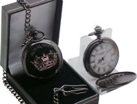 Royal Navy Pocket Watch BLACK Engraved Custom Personalised Personalised Gift
