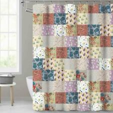 Nice! Floral Farmhouse Patchwork Rustic Chic Waterproof Fabric Shower Curtain