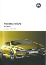 VW ARTEON Betriebsanleitung 2017 Bedienungsanleitung Handbuch Bordbuch   BA