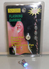 4 x LED Flashing Clip On Light Earring Red, Green & Blue Blinking Ear Stud Disco