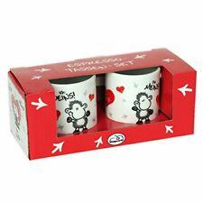 Sheepworld Espresso Set Tazze, Porcellana, Multicolore, 5.2cm cm (c3W)