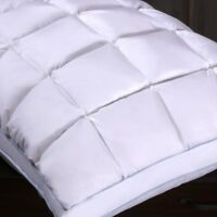 French Bread Pleated Goose Down Pillow Neck Support 600 Firm TC Comfort & Luxury