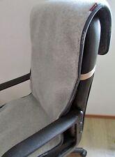 Sesselschoner anthrazit/silber 50x200 cm, Bürostuhlunterlage 100% Wolle