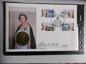 1992 Her Majesty's 40th Anniversary - coin cover - Turks & Caicos Islands