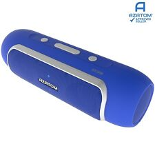 AZATOM Storm Bluetooth Station Speaker Portable for iPod iPhone MP3 Touch Blue