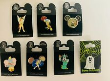 Lot of 7 Disney Pins Mickey, Minnie, Dumbo, Jiminy Cricket, Tinker Bell