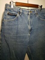 Vintage Riders Denim Tapered High Waisted Mom Jeans 32 x 30 Medium Wash