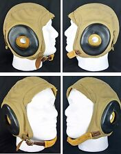 SLOTE & KLEIN US Navy USNR N288s-30999 Cloth Flight Summer Helmet WWII Size L