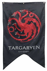Game of Thrones house of Targaryen Banner 30 x 50in Rare