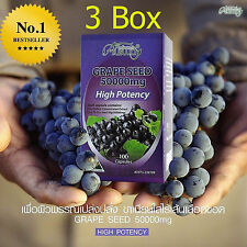 3 Box Ausway Grape Seed 50000 mg. Anti-Aging Dietary Supplement 100 Capsules