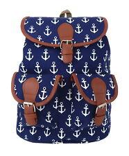 Rucksack Anker blau weiß by Ella Jonte Stoff Canvas Rockabilly maritim anchor