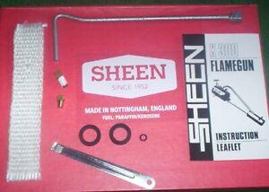 SHEEN FLAMEGUN FLAME GUN X300 / X500 FULL SERVICE KIT FREE POST