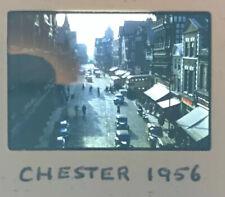 Stunning Vintage 35mm Photo Slide, Chester Town Centre 1956 Rare Amateur Image