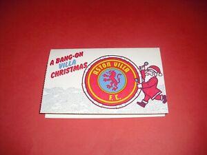 ASTON VILLA OFFICIAL UNUSED CHRISTMAS CARD (XMAS OLD)