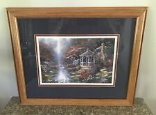 Landscape Cottage & Gazebo Picture Framed Wall Art With Wood Frame